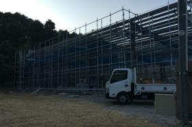 岡山県赤磐市某製造会社倉庫建設工事