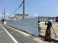 Mクラフト新社屋新築 仮囲い工事(岡山市北区)