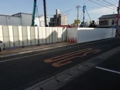 賃貸住宅新築工事仮囲い組立(岡山市北区)