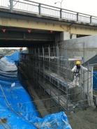 岡山市南区国道2号線バイパス橋脚改修工事